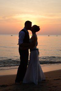 romantische Trauung am Chiemsee-Strand